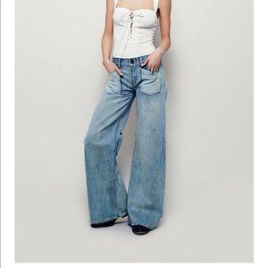 Free people Malik pocket flare jeans